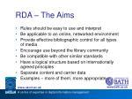 rda the aims