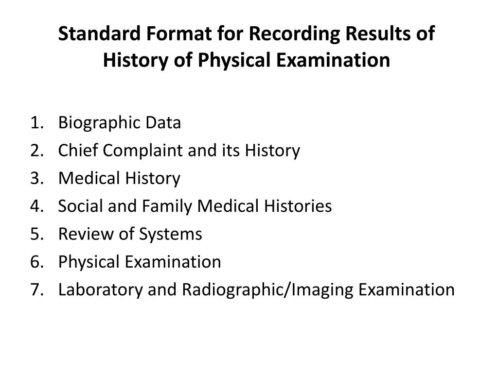 PPT - Review of Anatomy, History taking, and Diagnosis