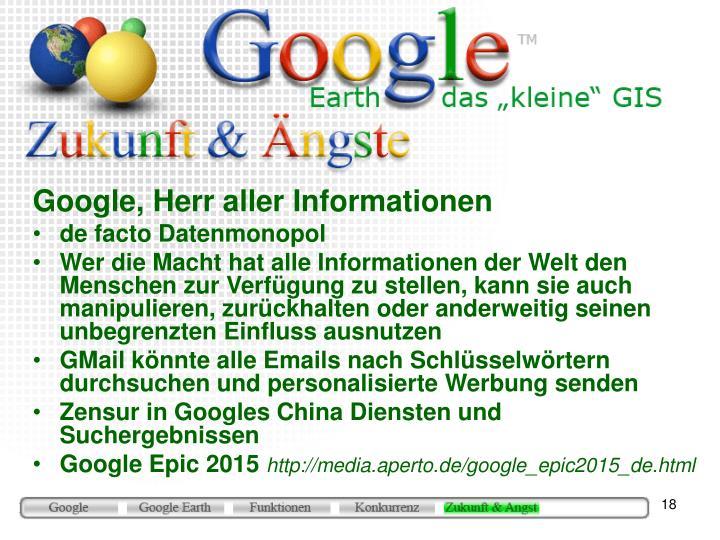 Google, Herr aller Informationen
