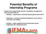 potential benefits of internship programs