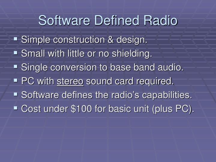 Software defined radio1