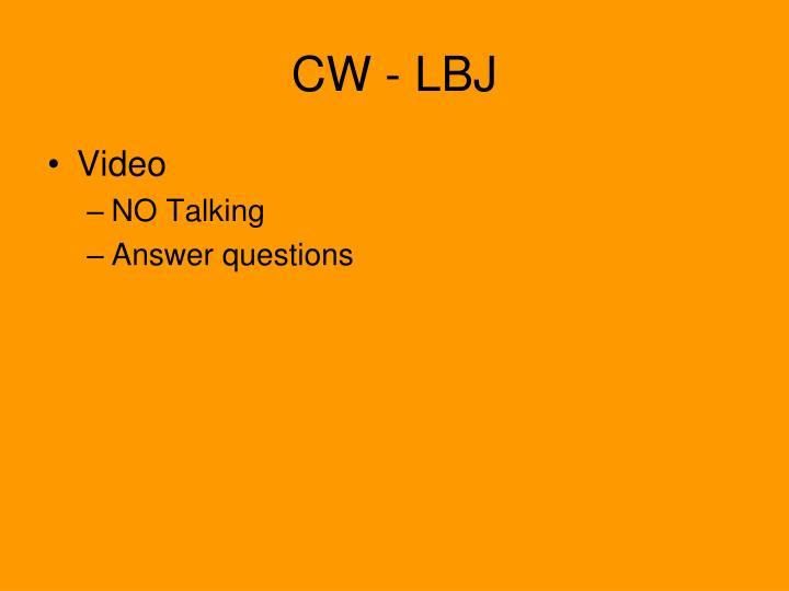 CW - LBJ