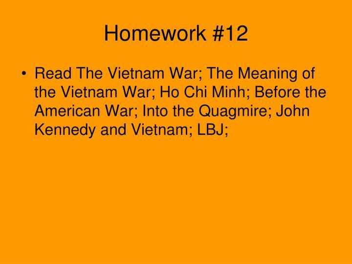 Homework #12