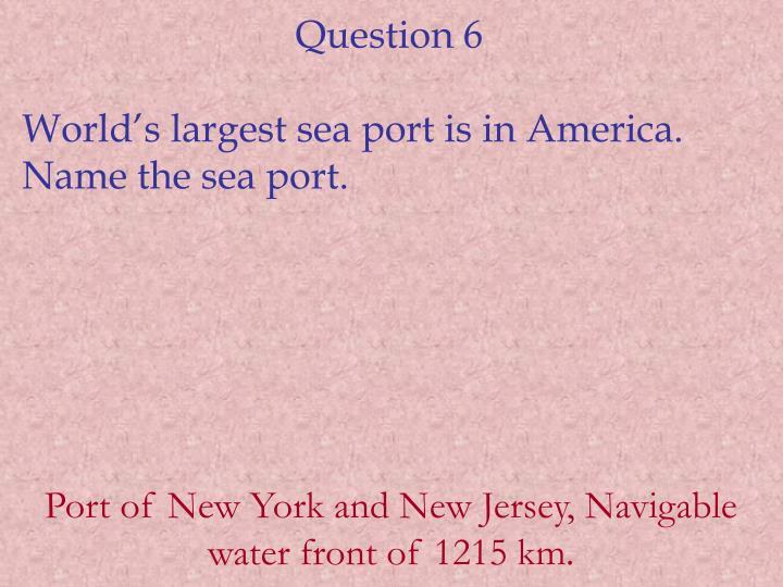 Question 6