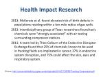 health impact research