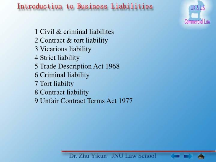 torts and professional liability