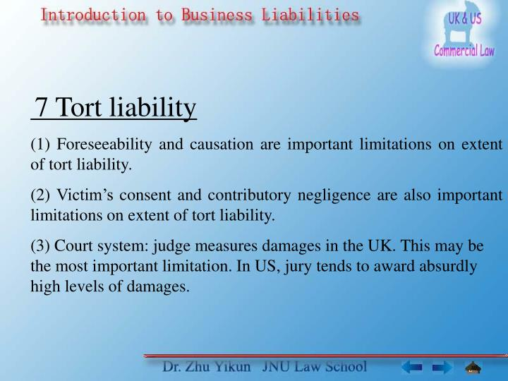 an examination of tort liability and contract liability