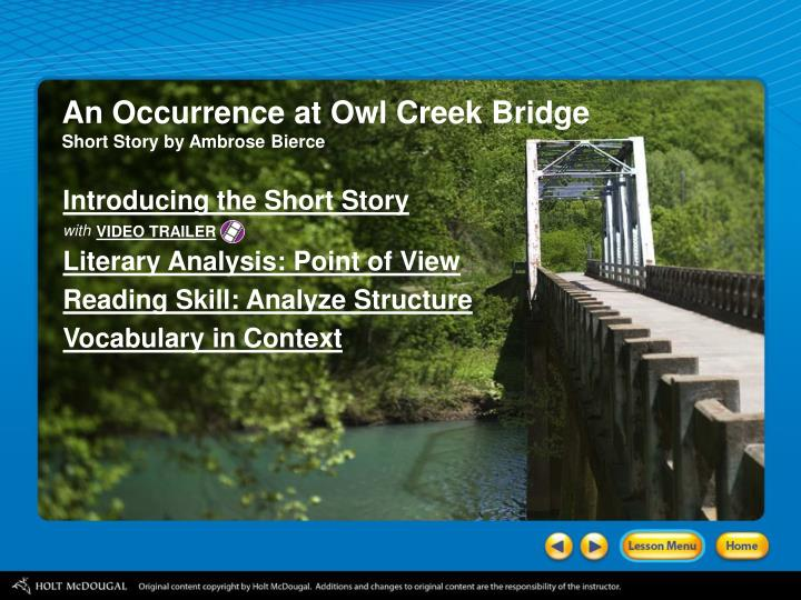 an occurrence at owl creek bridge literary analysis answers