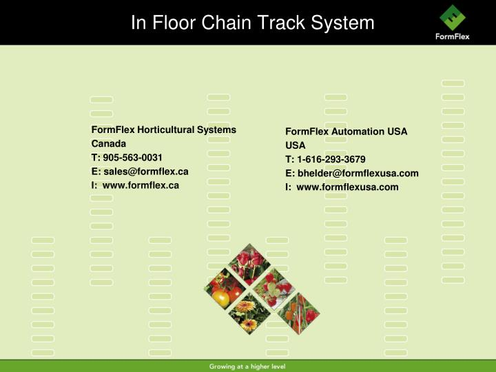 In Floor Chain Track System
