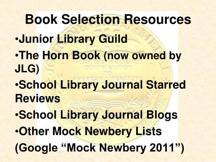 Book Selection Resources