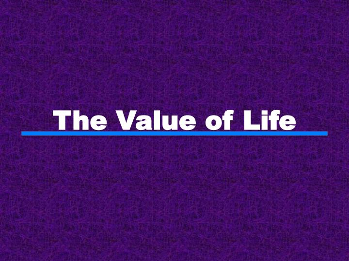 the value of life n.