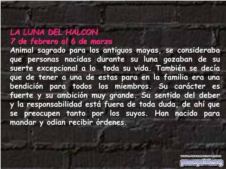 LA LUNA DEL HALCON