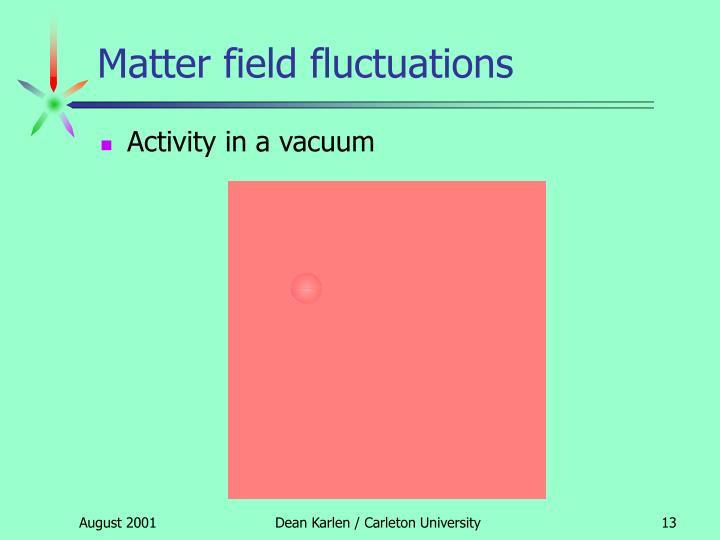 Matter field fluctuations