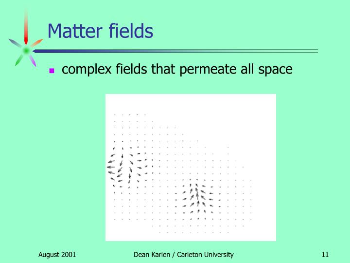 Matter fields