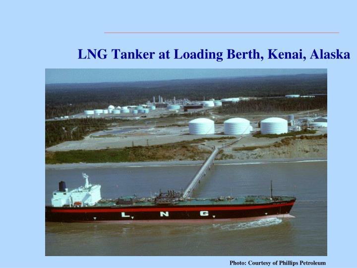 LNG Tanker at Loading Berth, Kenai, Alaska