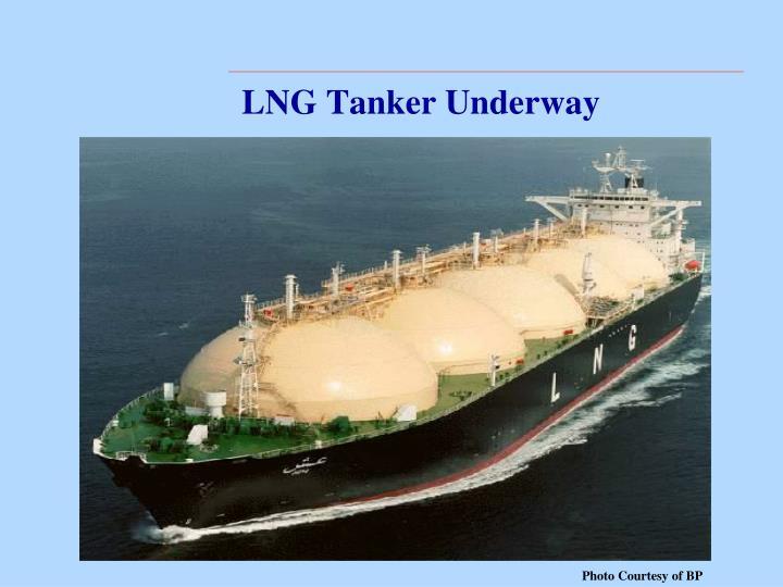 LNG Tanker Underway