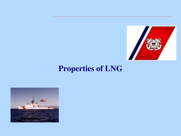 Properties of lng