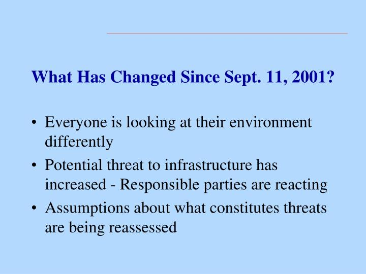 What Has Changed Since Sept. 11, 2001?