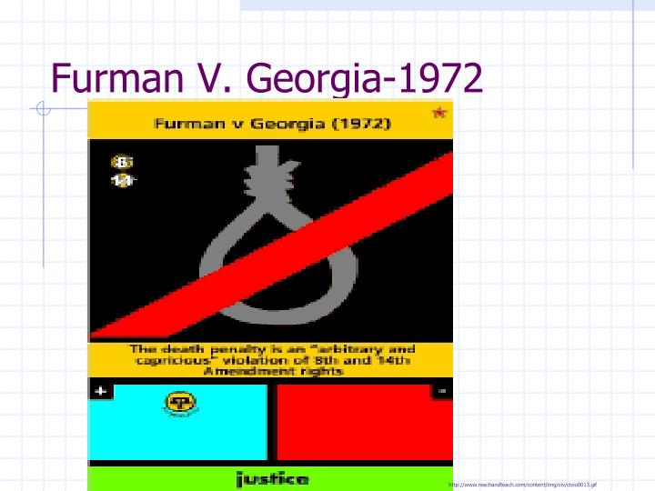 furman v georgia 1972 summary