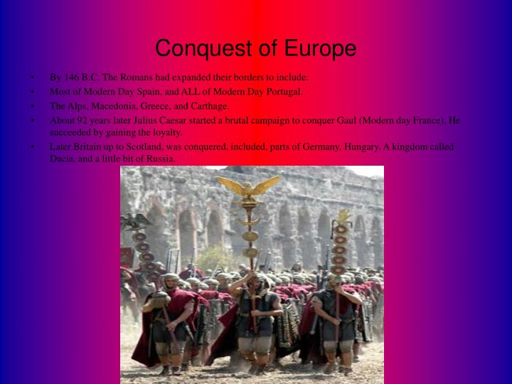 Conquest of Europe