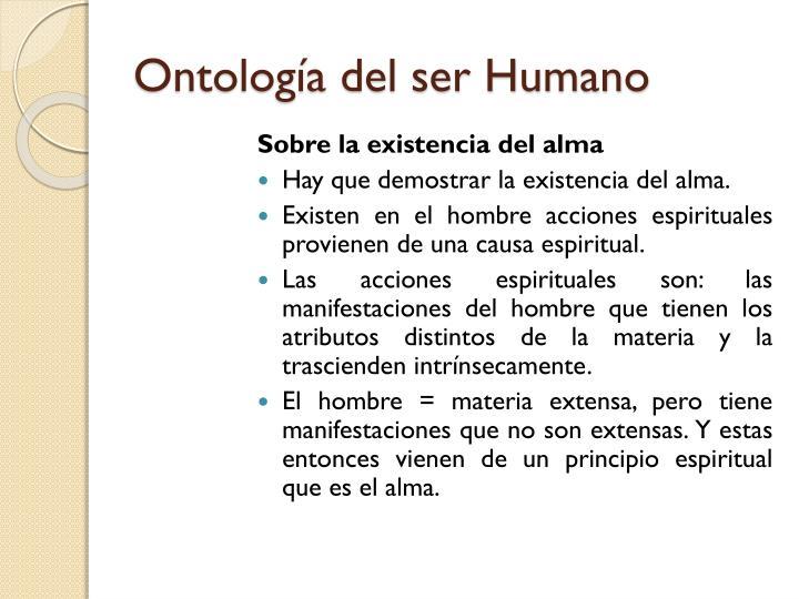 Ontología del ser Humano