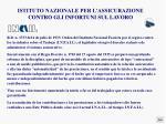 istituto nazionale per l assicurazione contro gli infortuni sul lavoro