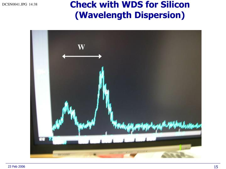 Check with WDS for Silicon