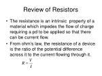 review of resistors1