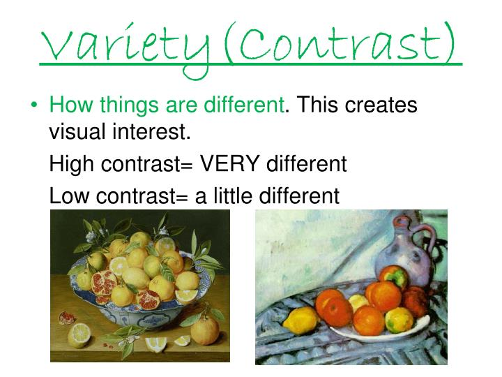 Variety(Contrast)