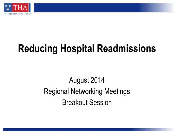 reducing hospital readmissions n.