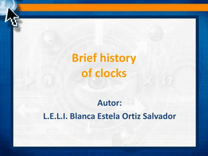 brief history of clocks n.