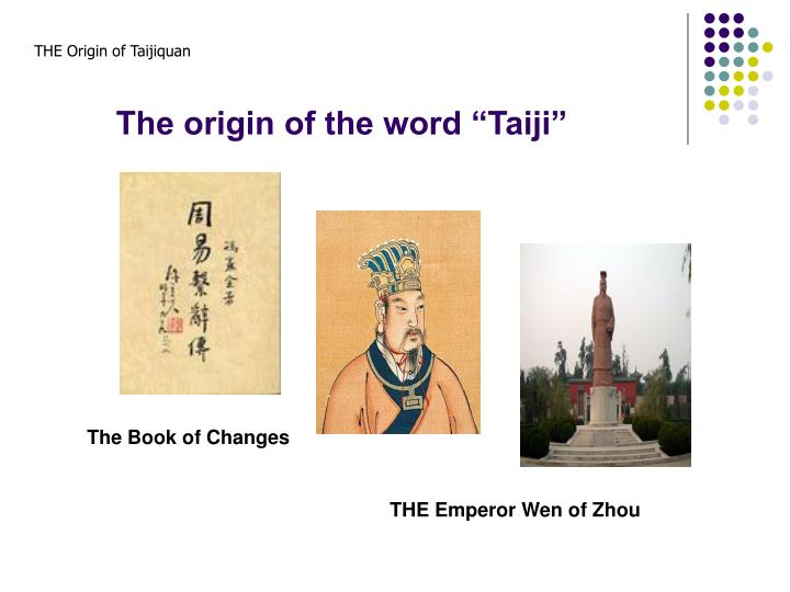 "The origin of the word ""Taiji"""