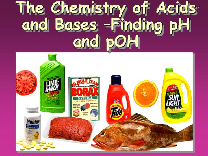 the chemistry of acids and bases finding ph and poh n.