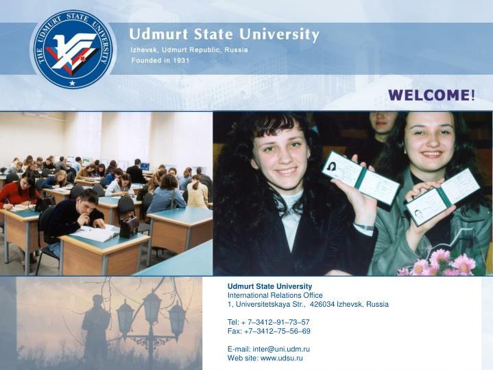 Udmurt State University