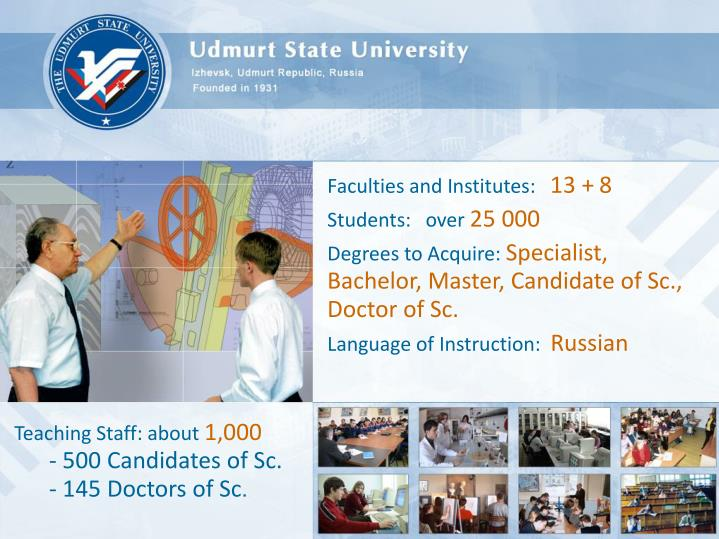 Faculties and Institutes: