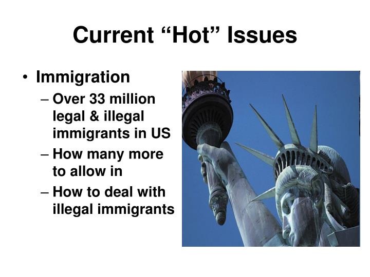 """Current """"Hot"""" Issues"""