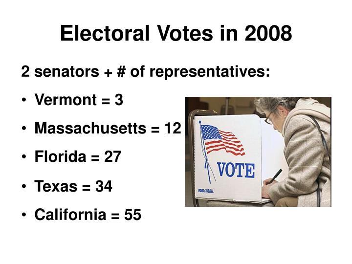 Electoral Votes in 2008