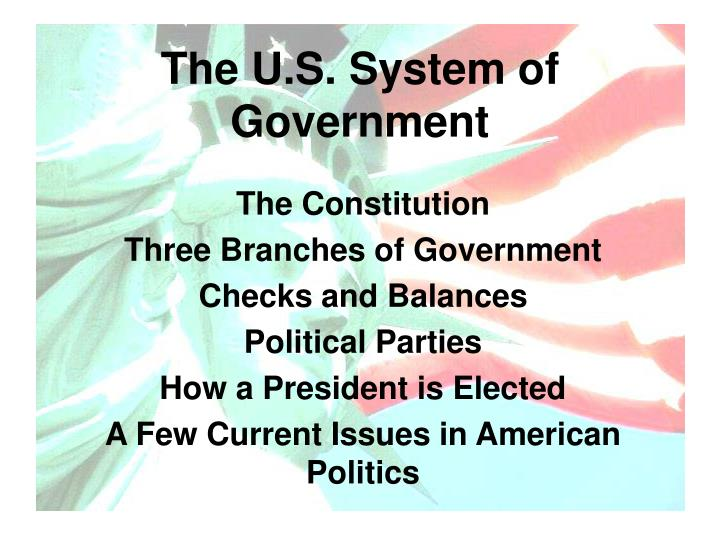 The u s system of government1