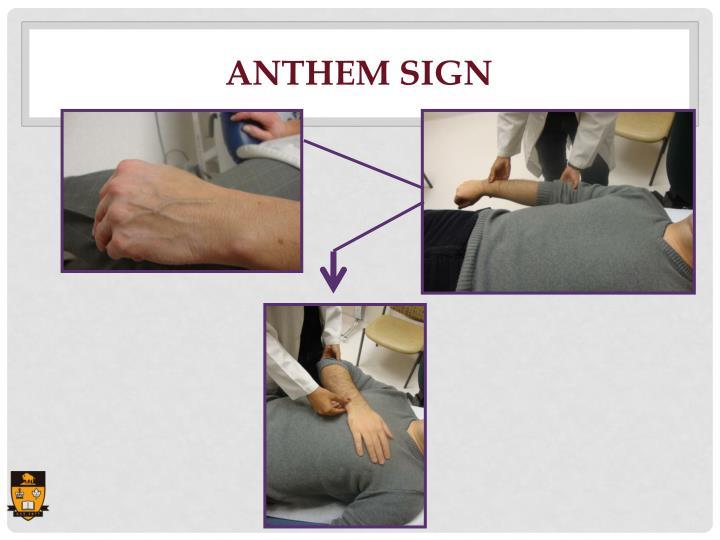 Anthem Sign