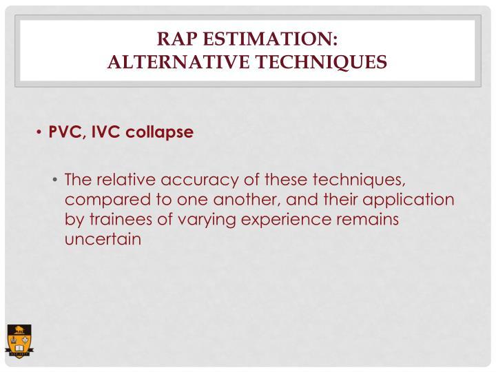 RAP Estimation: