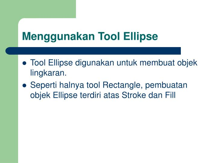 Menggunakan Tool Ellipse