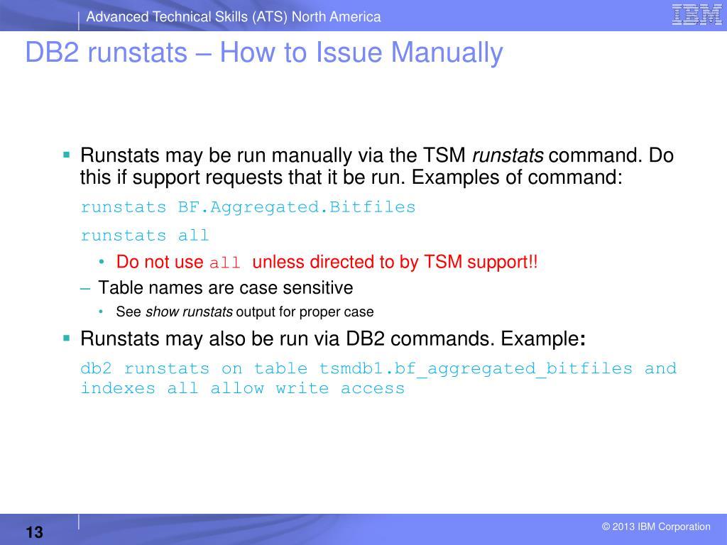 PPT - Storage Technical Exchange Tivoli Storage Manager DB2 for TSM