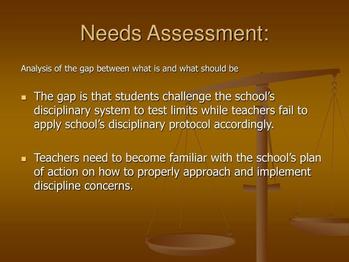 Needs assessment1