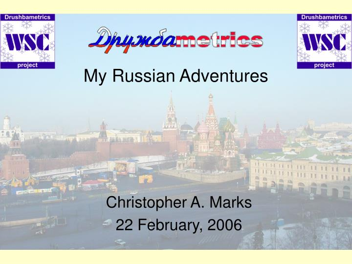 my russian adventures n.