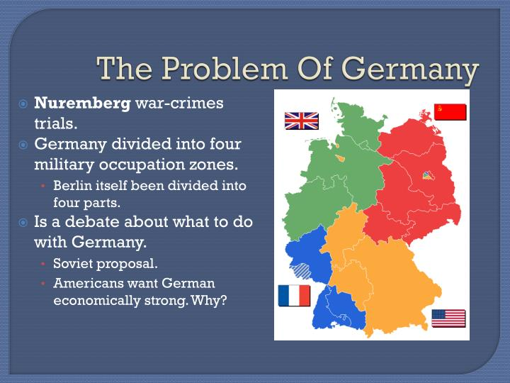 problems with german reunification The unification of germany is at present im possible because of the irreconcilable interests of the united states and the soviet union the berlin issue, as it was raised by khrushchev in november 1958, is the symbolic man ifestation of the real issue which has separated the united states and the.