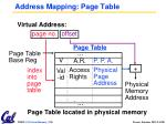address mapping page table