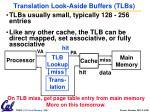 translation look aside buffers tlbs