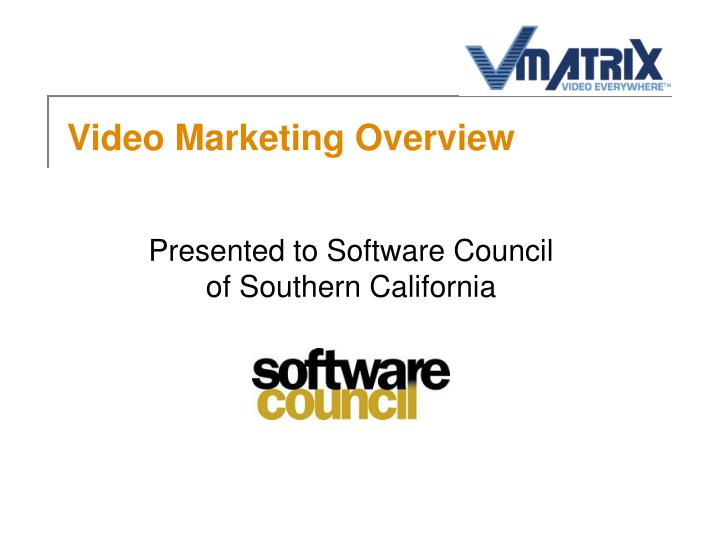 video marketing overview n.