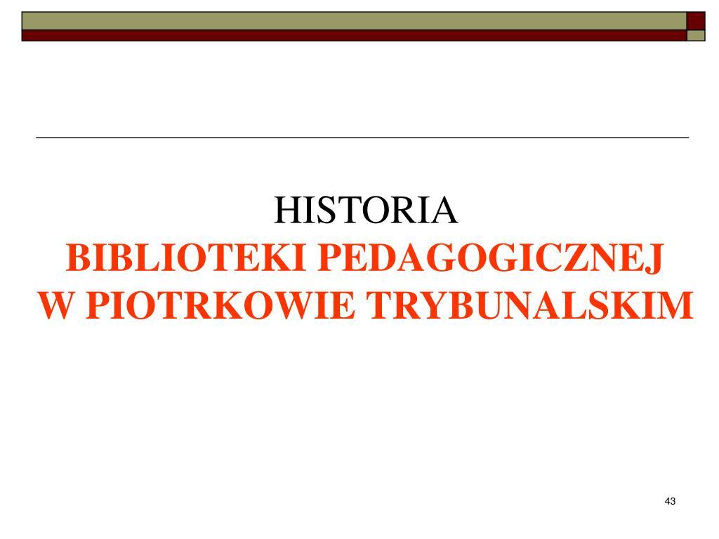 Ppt Biblioteka Pedagogiczna Powerpoint Presentation Id