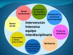 intervenci n intensiva equipo interdisciplinario